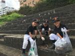 河川敷清掃